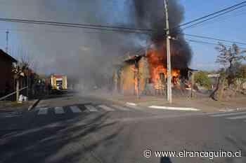 Dos casas destruidas dejó incendio en Rosario. - El Rancagüino
