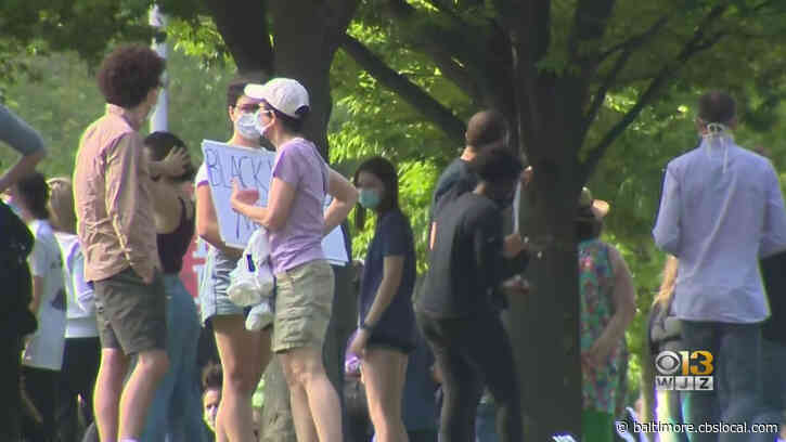 Demonstrators Protest Death Of George Floyd In Baltimore's Roland Park Neighborhood