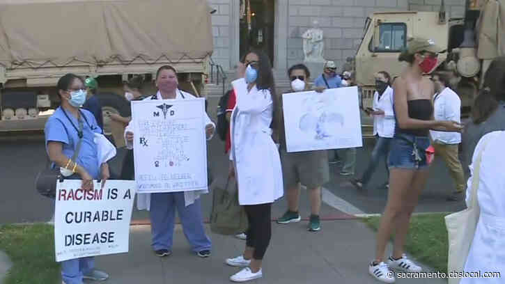 Protesters Gather At State Capitol For Fifth Day Of George Floyd Demonstrations