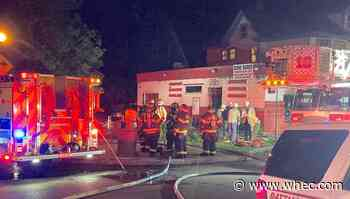 RFD fighting fire on Brown Street