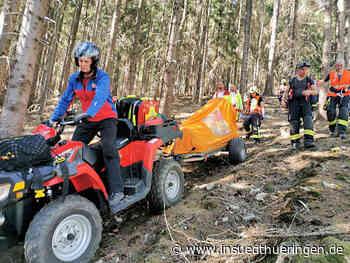 Waldhaus Schmalkalden: Schwierige Bergung eines verletzten Ausflüglers - inSüdthüringen