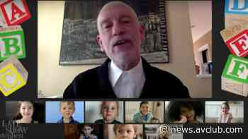 John Malkovich delivers the Late Show preschool graduation address of your kids' nightmares - The A.V. Club