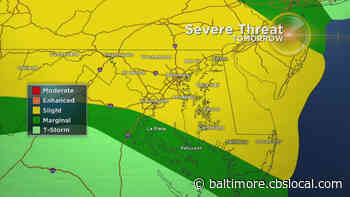 Maryland Weather: Slight Risk For Severe Storms Wednesday - CBS Baltimore