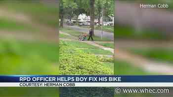 RPD Officer helps 10-year-old fix bike