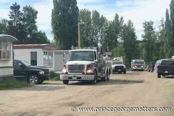 Prince George Fire Rescue extinguishes Lombardy Mobile Home Fire - PrinceGeorgeMatters.com