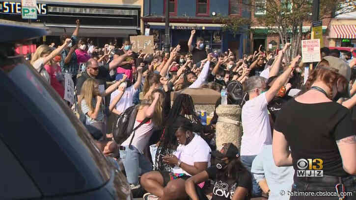 George Floyd Death: Hundreds Of Demonstrators Protest In Annapolis, Across Maryland Tuesday