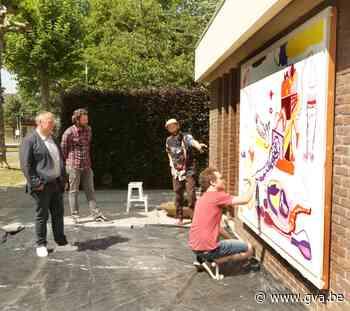 Straatcanvas in Mariaburg geeft kunstenaars weer mogelijkheden, miereneter bijt de spits af - Gazet van Antwerpen