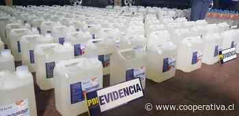 Incautan casi mil litros de alcohol gel artesanal en Concepción - Cooperativa.cl