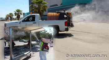 #Juarez | Continúa Municipio con sanitizacion de espacios públicos en la ciudad - Adriana Ruiz
