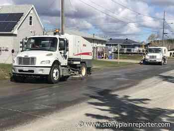 Street sweeping set to begin Monday in Stony Plain - Stony Plain Reporter