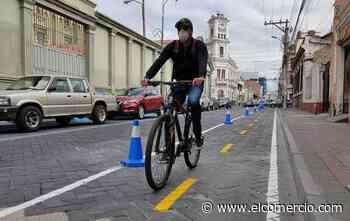 Una ciclovía emergente se habilitó en Riobamba - El Comercio (Ecuador)