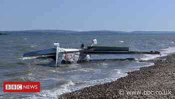 Two rescued after plane ditches in Solent off Calshot
