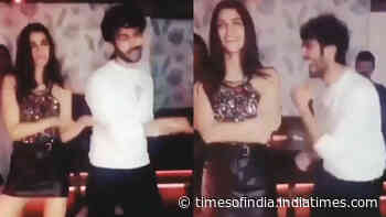 Kartik Aaryan and Kriti Sanon dance their heart out on 'Poster Lagwa Do' song in this throwback video!