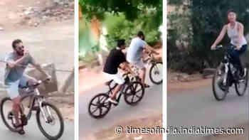 Viral video: Salman Khan and Jacqueline Fernandez cycling in Panvel amid lockdown