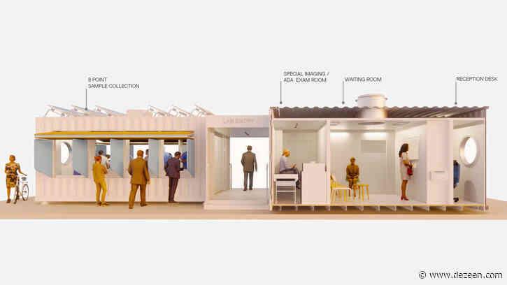 Grimshaw designs range of shipping-container coronavirus testing centres