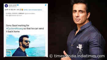 Fan asks Sonu Sood to send Cyclone Nisarga home, actor's reply will leave you ROFL