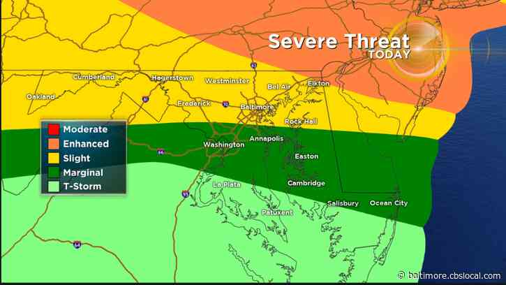 Maryland Weather: Heat & Humidity Set Stage For A Possibility Of Severe Thunderstorms