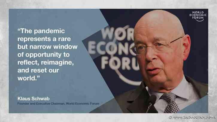 WEF Founder Klaus Schwab Calls For The 'Great Reset'