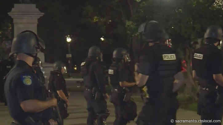 Sacramento George Floyd Protests Remain Peaceful; Police Arrest 20 For Curfew Violations