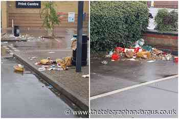 McDonald's car park sees litter left strewn across it