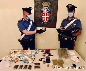 Una pistola, droga e una bomba carta: arrestato un 28enne - Cagliaripad
