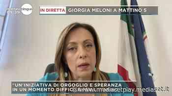 """Coronavirus, Giorgia Meloni: """"Rischiamo una bomba sociale"""" - Mattino Cinque - Mediaset Play"""