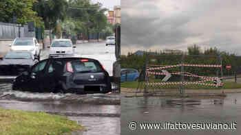 Bomba d'acqua sul Vesuviano, Striano la città più colpita: buche, allagamenti e auto in tilt - Il Fatto Vesuviano - Il Fatto Vesuviano