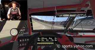 Brad Keselowski turns an iRacing lap at Atlanta Motor Speedway