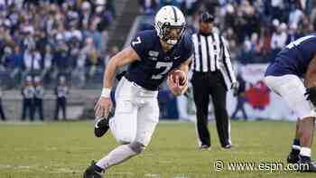 Penn State's Will Levis runs 5 miles backward for coronavirus relief - ESPN