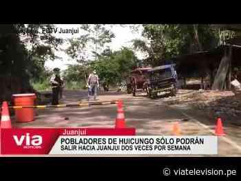 Pobladores de Huicungo sólo podrán salir hacia Juanjui dos veces por semana - VIA Televisión