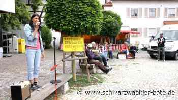 Rangendingen: Demonstranten bleiben unter sich - Rangendingen - Schwarzwälder Bote