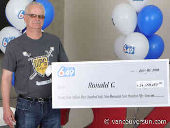 Aldergrove man to share $24 million win with his daughters, donate to charity