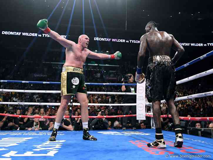 Tyson Fury Believes Deontay Wilder Opting For Rematch Only For The Money