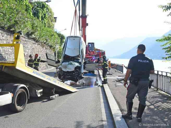 Como, ubriaco al volante finisce con l'auto nel lago: muore la fidanzata 24enne, lui arrestato - Corriere della Sera