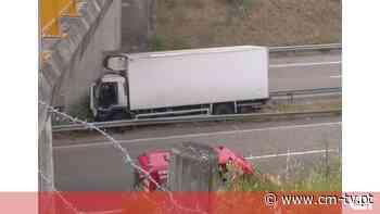Camião embate contra pilar de viaduto na A23 em Torres Novas - CMTV