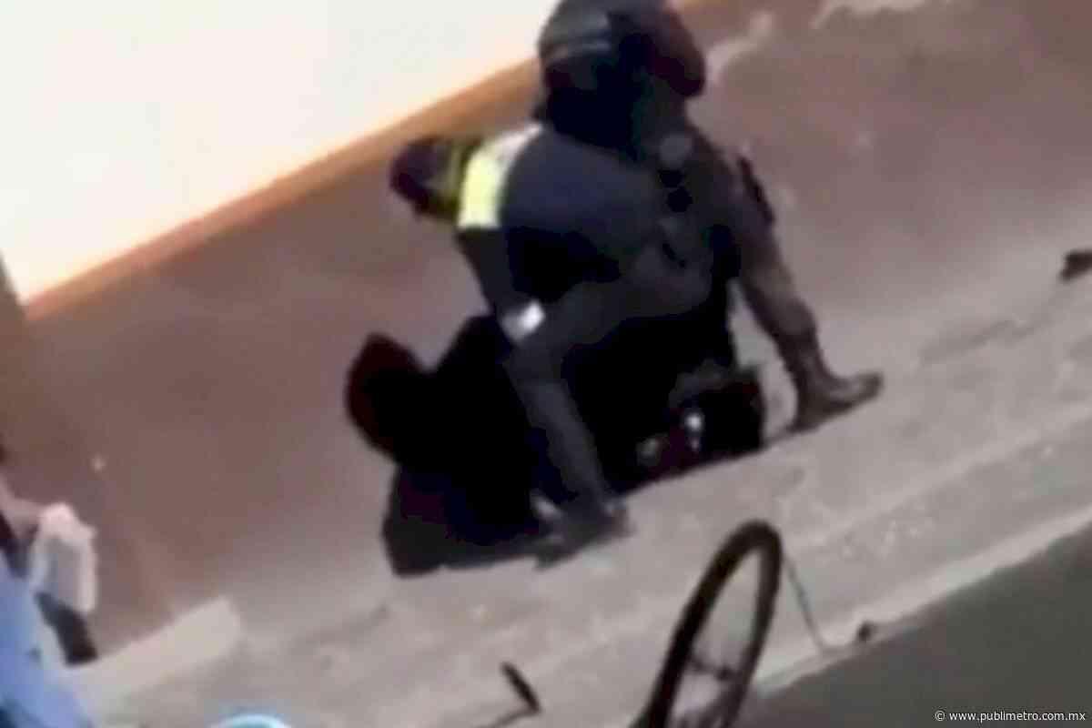 Policias agreden a ciclista en el municipio de Dolores Hidalgo en Guanajuato - Publimetro México