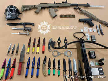 Anti-gang cops seize weapons from Prince George dealers