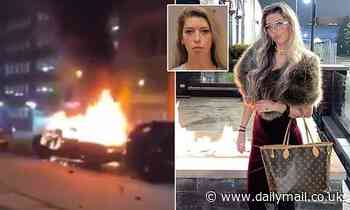 Woman, 22, is arrested for inciting a riot in a Facebook live post following a George Floyd protest