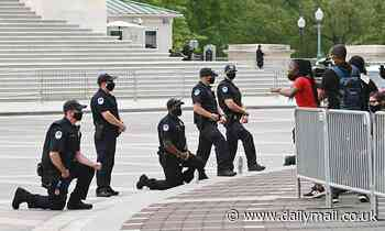 Capitol Police kneel before protesters in DC as George Floyd protests continue nationwide