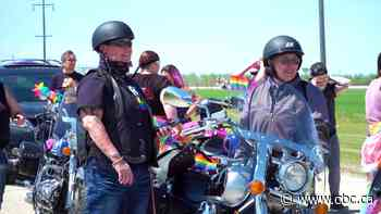 Physically-distanced pride parade procession rolls through Ste. Agathe, Man. - CBC.ca