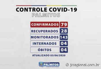 COVID-19: Quem não usar máscara em Palmitos estará sujeito à multa de até R$ 878,37; Município já registra quatro mortes - JRTV Jornal Regional
