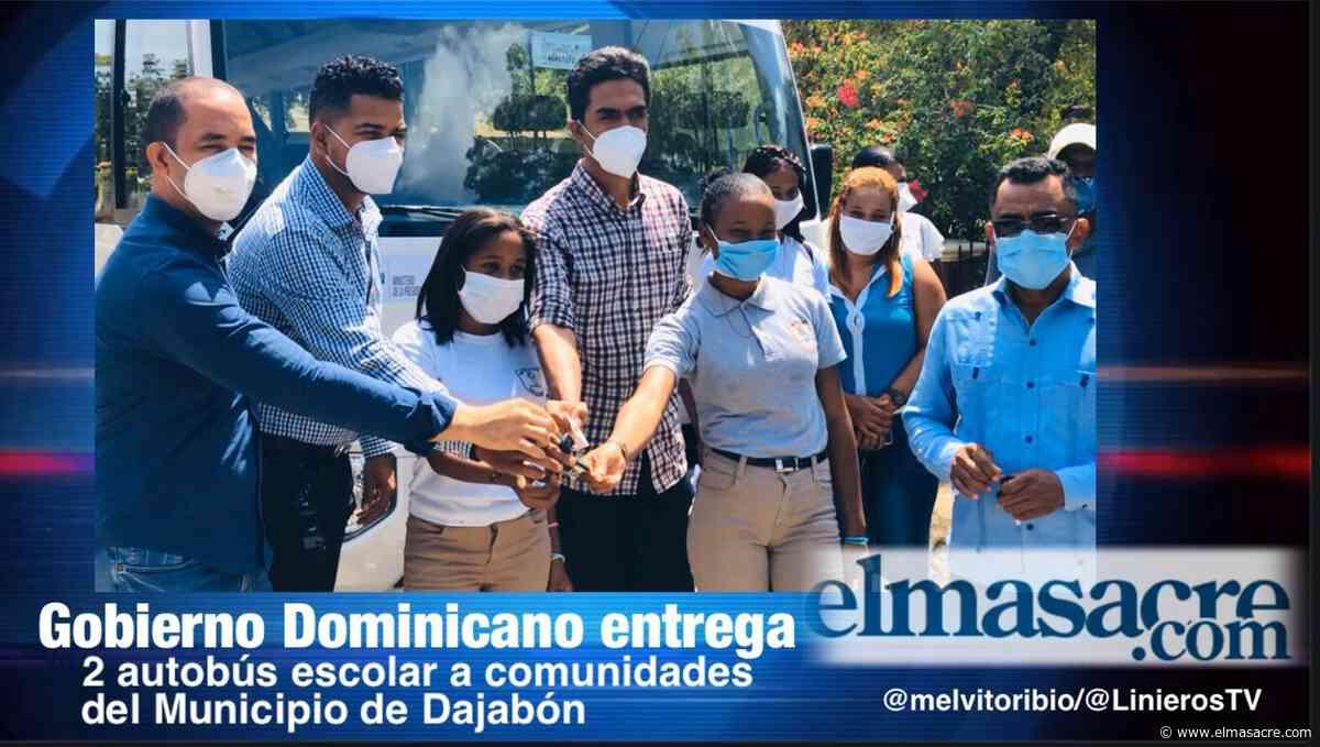 Gobierno dominicano entrega autobuses a estudiantes de Dajabón - El Masacre
