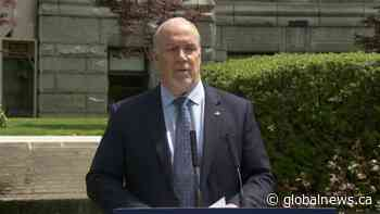 B.C. premier on June 1 changes to minimum wage, return to part-time school