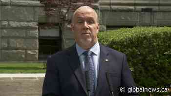 Horgan says province still aiming to ease travel restrictions within B.C. by mid-June