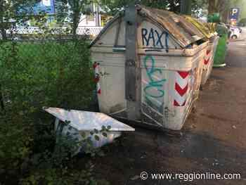Reggio Emilia: vasca abbandonata in via Premuda vicino ai cassonetti - Reggionline
