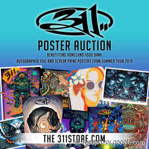 311 Launches Signed Poster Auction For Omaha's Heartland Food Bank Today