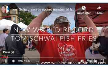 VIDEO | Tom Schwai sets new fish fry record at Fillmore Fire Hall - washingtoncountyinsider.com