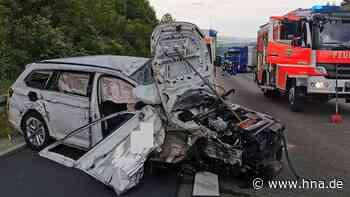 Unfall auf A7 bei Bad Hersfeld nahe Kassel: Auto kracht in Sattelschlepper | Bad Hersfeld - hna.de