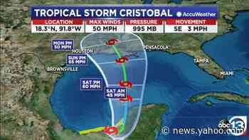 Storms in the Houston area while all eyes are on Tropical Storm Cristobal
