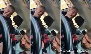 Shocking footage shows drunken passenger hurling racist abuse at taxi driver